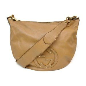 Authentic Gucci Browns Leather Shoulder Bag